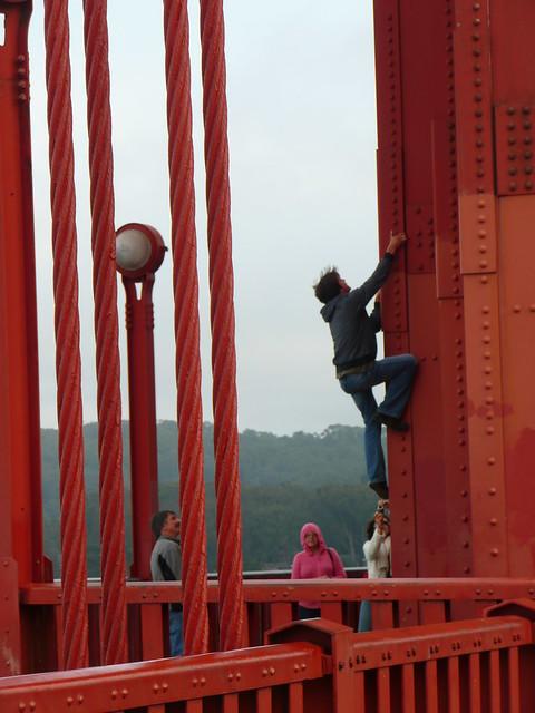 Climbing A Golden Gate Bridge Tower He Didn T Climb Any