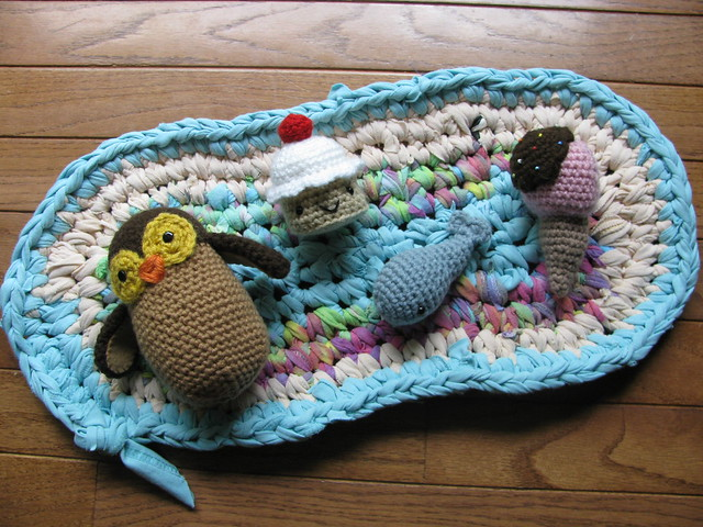 T Shirt Rug, Owl, Cupcake, Whale And Ice Cream Cone .