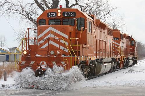 railroad railway hammond stateline eje ind elginjolieteastern eje666 plowline emdsd382 eje673 lakefrontline