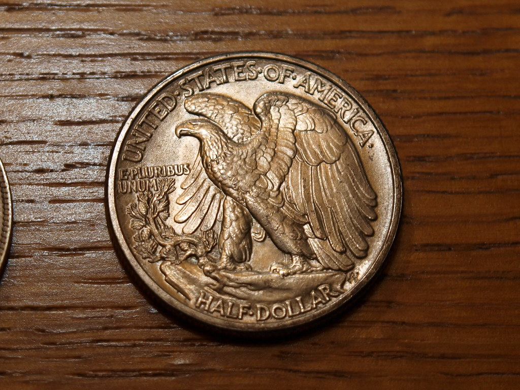 1942 US Half Dollar Most Beautiful coin ever made!