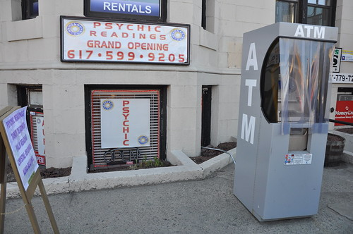 Signs of the recession - a psychic ATM?