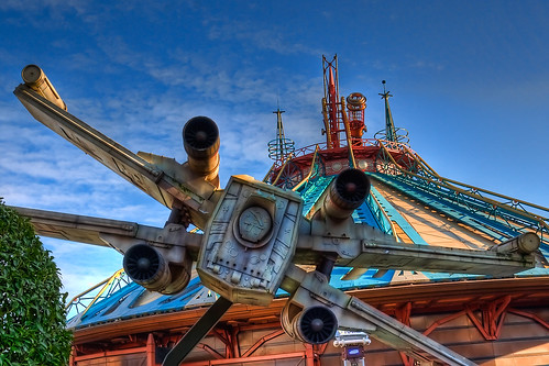 DLP Feb 2009 - X-Wing on Space Mountain Attack Run