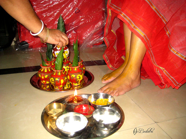 one of the many rituals that precede a bengali weddingthis one 39s carried