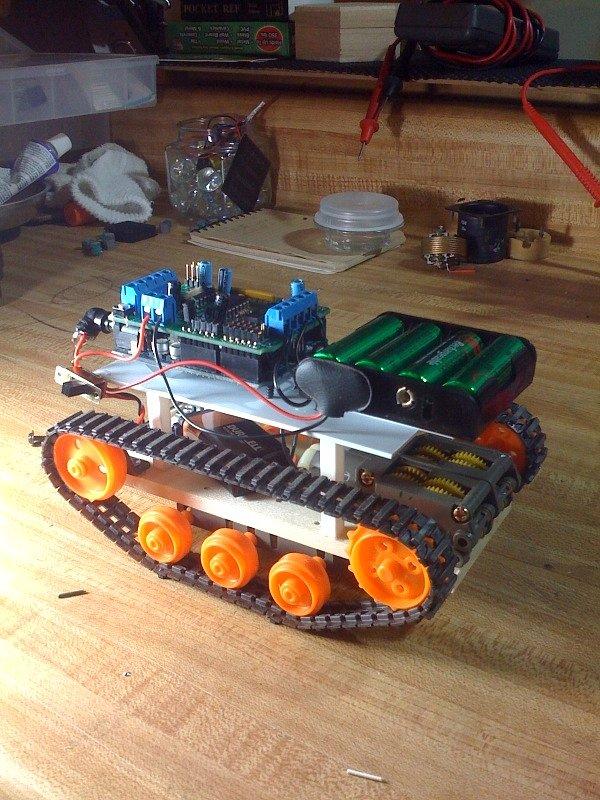 Arduino robot base flickr photo sharing