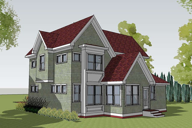Hastings small cottage house plan rendering flickr Simply elegant house plans