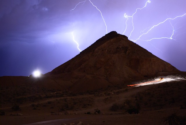 Lightning and trucks