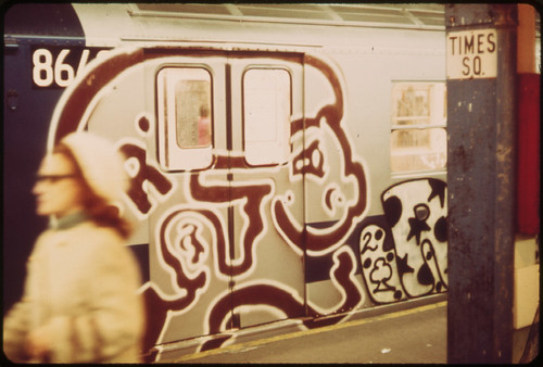 Documerica photo by Eric Calonius Times Square subway 5/1973