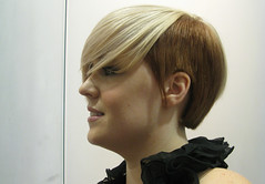 nose, chin, face, hairstyle, head, hair, brown hair, bob cut, blond, hair coloring, wig,
