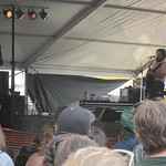 Sam Beam brings a crushing crowd to the Harbor Stage. By WFUV