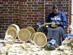 Basket Weaver at Market