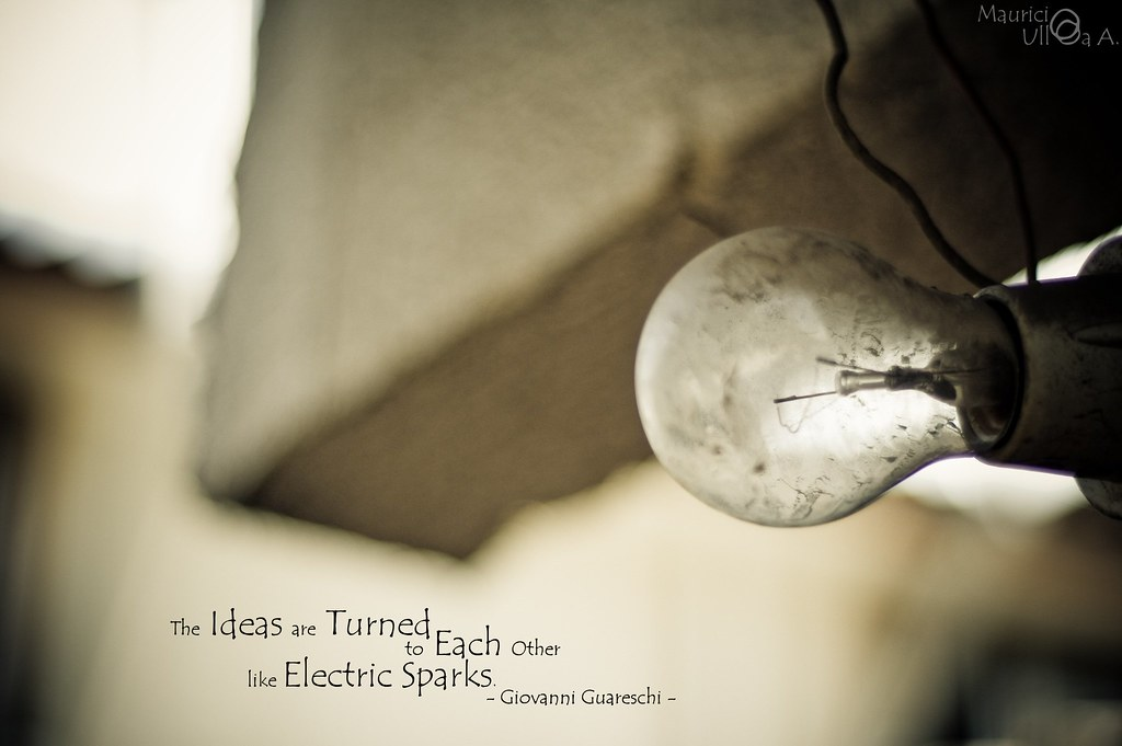 The Ideas are Turned to Each Other like Electric Sparks.