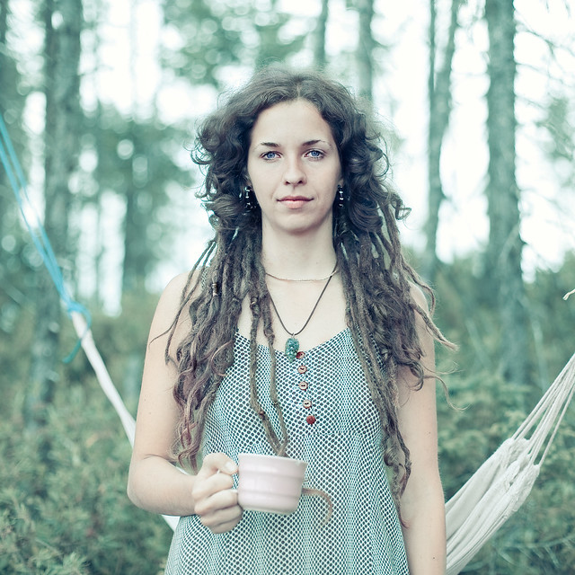 A stranger:  Quebec Rainbow gathering 2009: Isabelle 22 years old