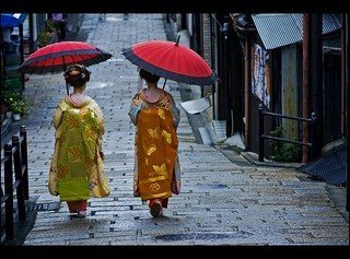 In the streets of Gion