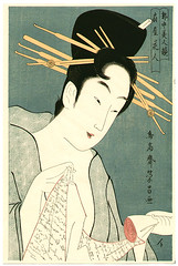 geisha, manga, woman, female, poster, illustration, person,