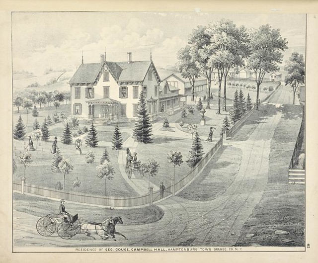 Residence of Geo. Gouge. Campbell Hall. Hamptonburgh Town Orhamptonburgh town