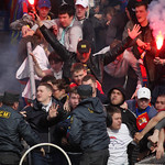 Fighting with police, FC Siberia vs CSKA