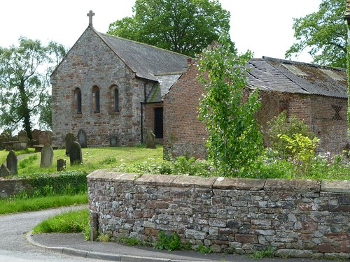 Beaumont church near location of Turret 70a
