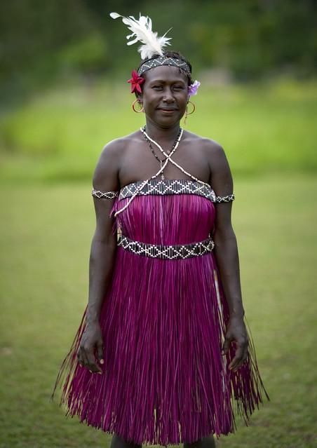 Bougainville island traditional dress - Papua New Guinea ...