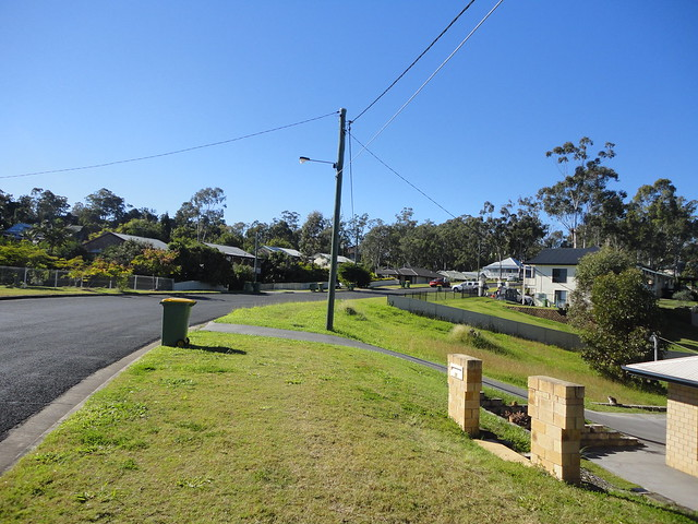Looking up Braeside Rd Bundamba. John Coyle photo.
