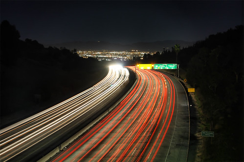 longexposure mountains night canon losangeles tv north overpass 405 valley freeway lighttrails sanfernando efs1785mmf456isusm mulholland xsi 450d