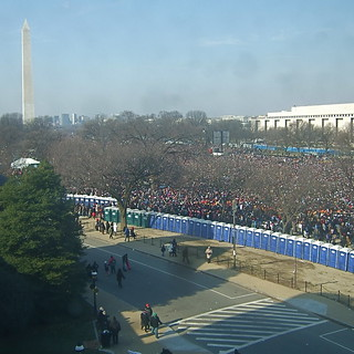 Inaugural Masses (looking west toward Washington Monument)