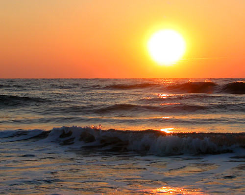 ocean park sea orange sun beach water yellow sunrise surf state south tide huntington atlantic carolina