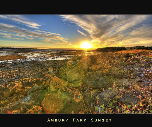 blue sunset newzealand sky green yellow clouds rocks auckland lowtide abbas hdr nazar sigma1020mm amburypark nazarab