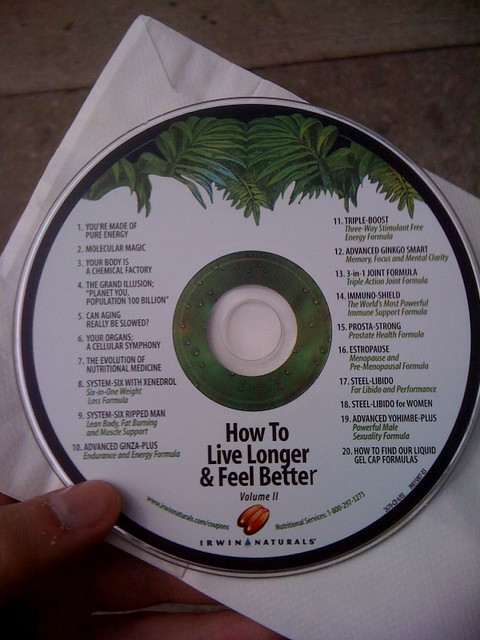 And as I was walking out, nice polish tea lady gave me this crazy CD