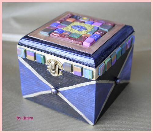 Cofanetto mosaico realizzato con la pasta polimerica, Polymer clay Mosaic box