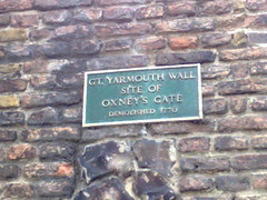 Photo of Oxney's Gate green plaque