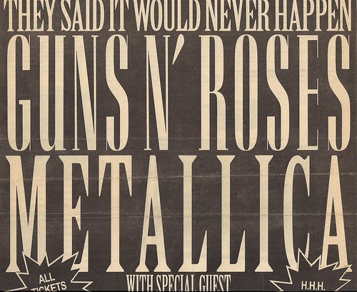 09/15/92 Guns 'N' Roses/Metallica/Faith No More @ Minneapolis, MN (Rescheduled Date Ad)(Top)