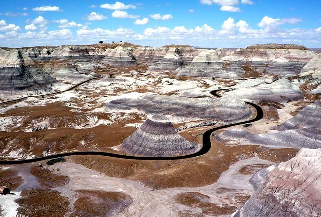 Blue Mesa. Parque nacional del Bosque Petrificado. Arizona. Estados Unidos.