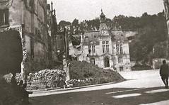 2éme bataille de la Marne - Hôtel de ville de Chateau Thierry - Contre-Offensive  de 1918 (photo VestPocket Kodak Marius Vasse 1891-1987)