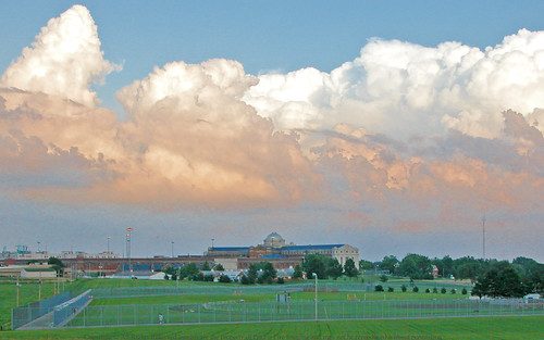 Stormy Fort Leavenworth U.S. Penitentiary - Leavenworth Kansas