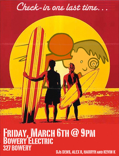 The Dodgeball Shut-Down Party.  (Fri March 6 @ Bowery Electric, NYC).  Well, old friend, I guess we knew this day would come.  xo 4eva, dpstyles97