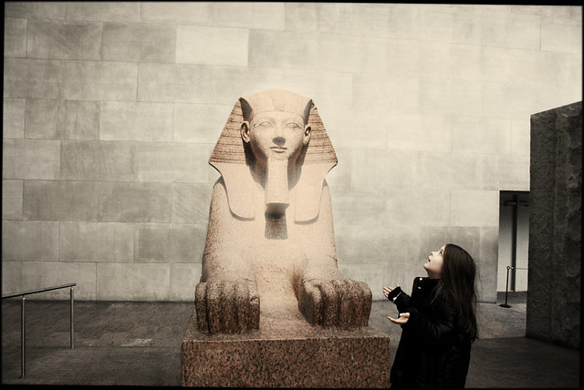 H.o.p. meets Sphinx at the New York Metropolitan Museum of Art (Darker Version)