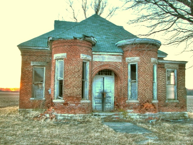 Abandoned indiana school flickr photo sharing - The house in the abandoned school ...