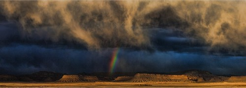 Winter Storm Rainbow, San Rafael Swell Utah