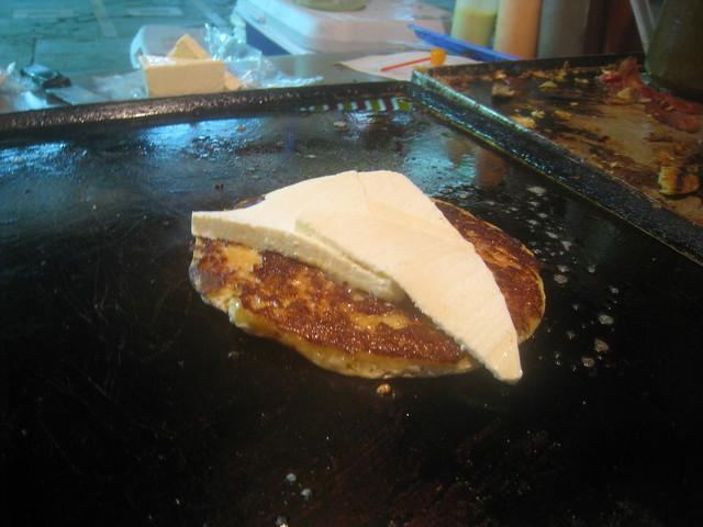 Late night pancake con queso