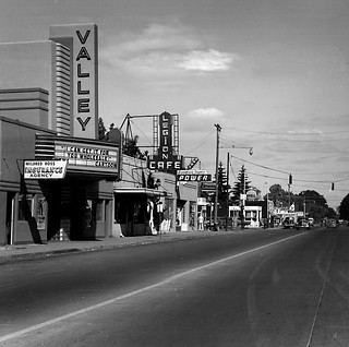 1951-2, Valley Theater on Highway 99 (also Ivy Street) looking north.