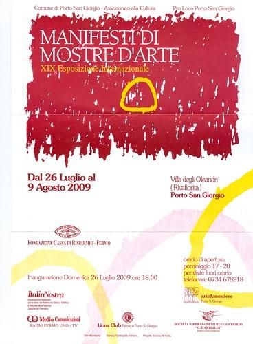 Manifesti di mostre d 39 arte porto san giorgio fm dal - Mostre d arte in piemonte ...