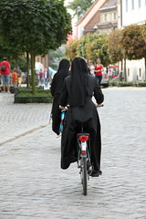 Nuns on bicycle...