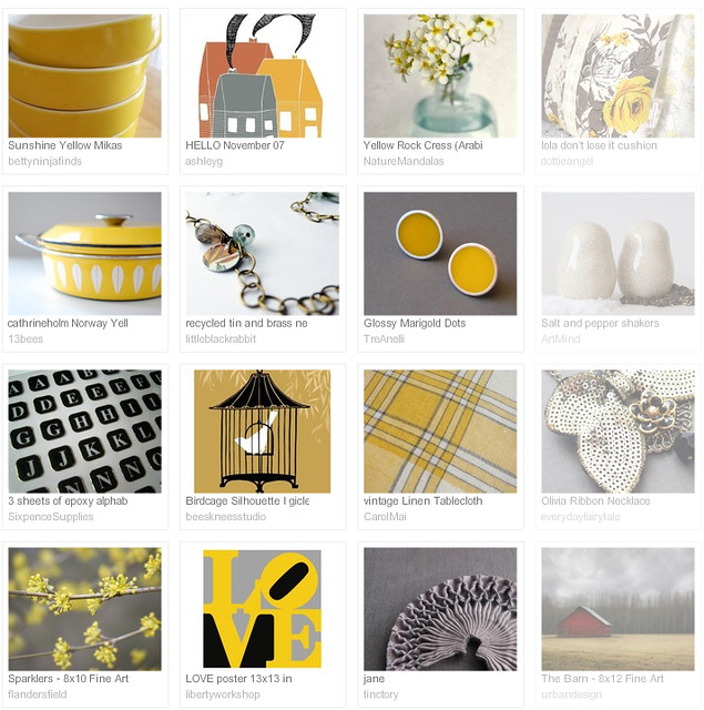 gorgeous grellow, Etsy favourites curated by Emma Lamb