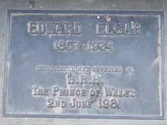 Photo of Edward Elgar and Charles bronze plaque