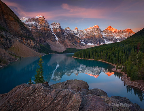 park lake canada reflection fall sunrise landscape photography phillips national alberta chip banff moraine mywinners natureselegantshots magicunicornverybest