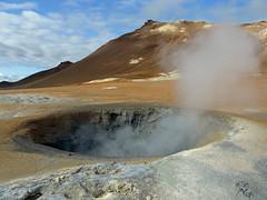 volcanic crater, geyser, geology, plateau, landscape, volcanic landform,
