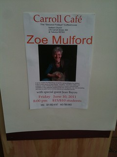 Zoe Mulford performed next door