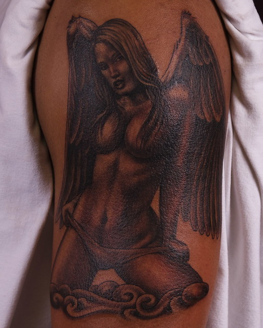 Hot angel tattoo flickr photo sharing for Sexy angel tattoo