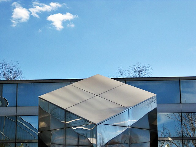 Rhombus-shaped roof on exterior building | Flickr - Photo ...