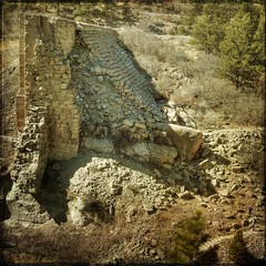 dam ruins,side view